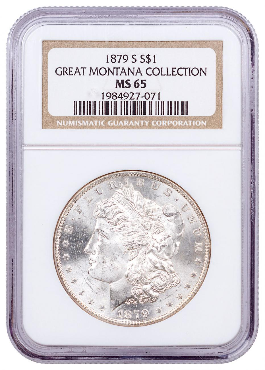 1879-S Morgan Silver Dollar From the Great Montana Collection NGC MS65 CPCR 7071