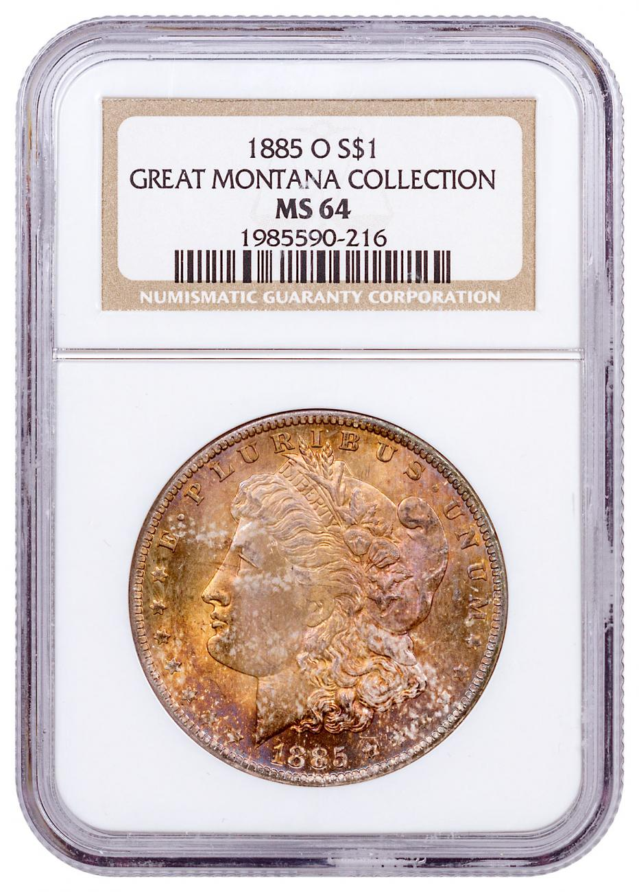 1885-O Morgan Silver Dollar From the Great Montana Collection NGC MS64 CPCR 0216