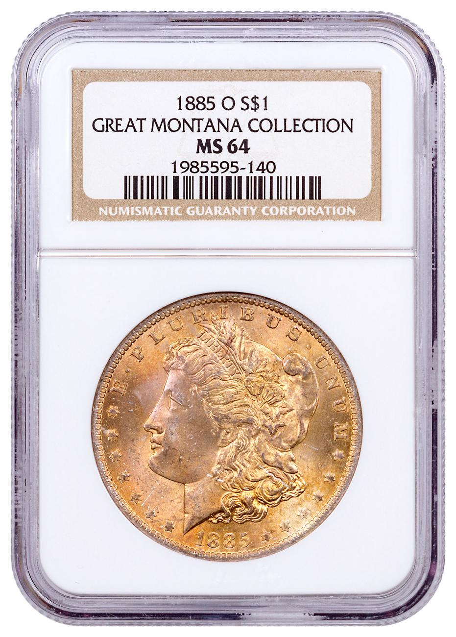 1885-O Morgan Silver Dollar From the Great Montana Collection NGC MS64 CPCR 5140