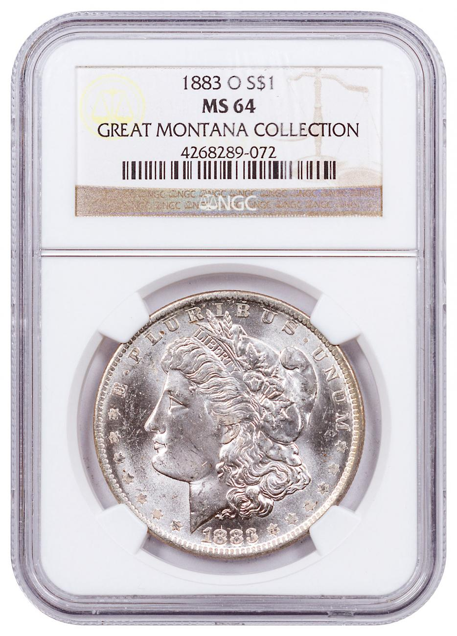 1883-O Morgan Silver Dollar From the Great Montana Collection NGC MS64 CPCR 9072