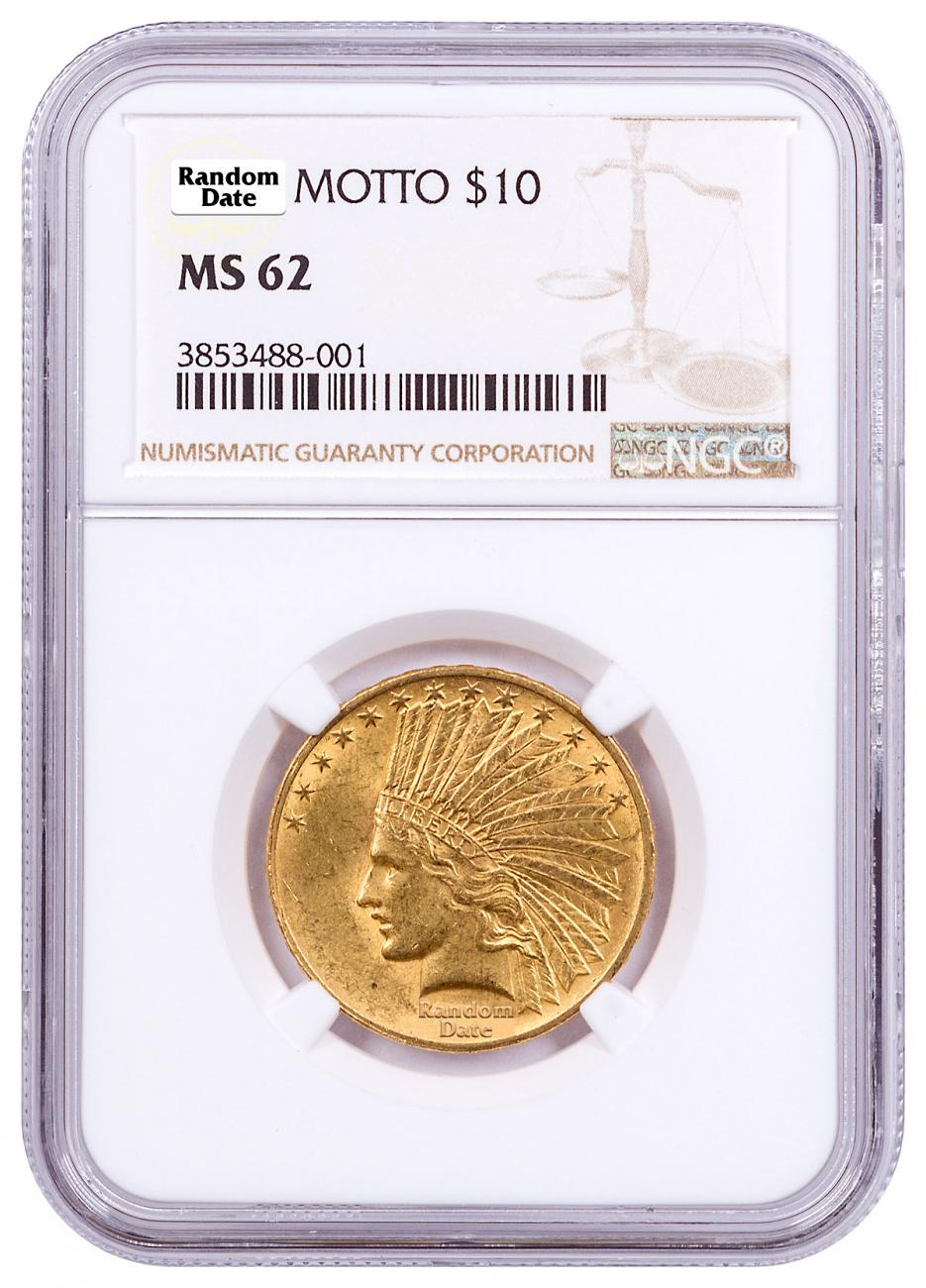1907-1932 Indian Head $10 Gold Eagle NGC MS62