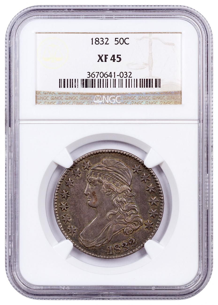 1832 Silver Capped Bust Half Dollar NGC XF45