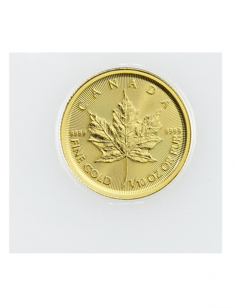 2019 Canada 1/10 oz Gold Maple Leaf $5 Coin GEM BU Mint Sealed