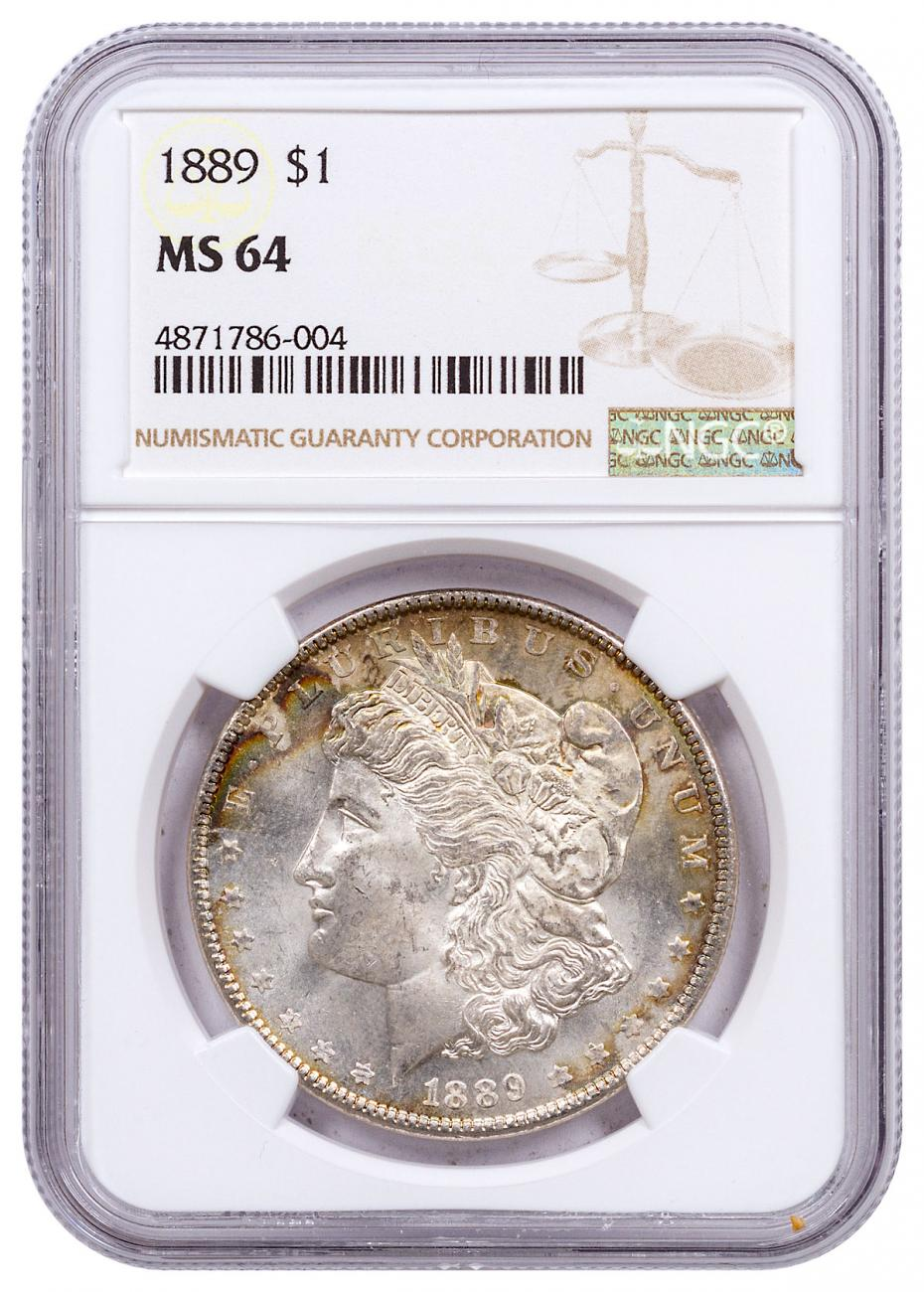 1889 Morgan Silver Dollar NGC MS64 CPCR 6004