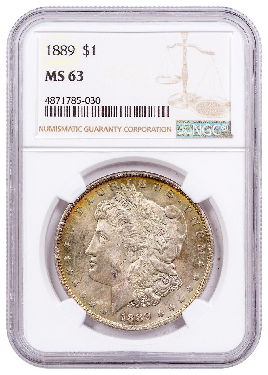 1889 Morgan Silver Dollar Toned NGC MS63 CPCR 5030