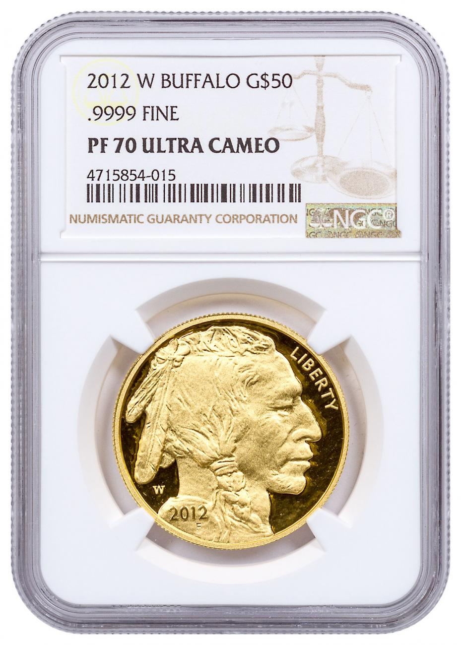 2012-W 1 oz Gold Buffalo Proof $50 NGC PF70 UC