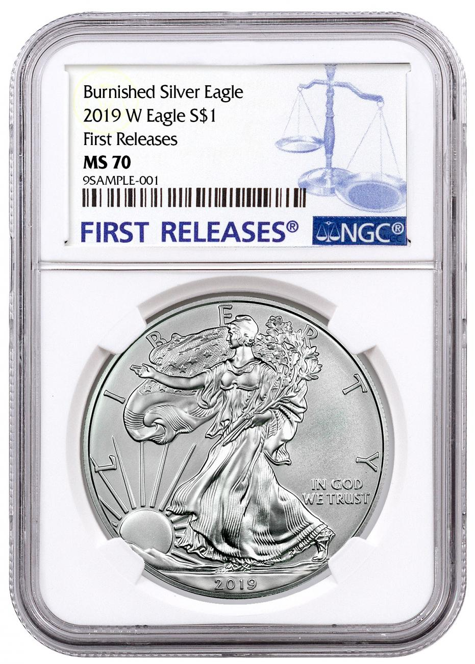 2019-W Burnished American Silver Eagle NGC MS70 FR