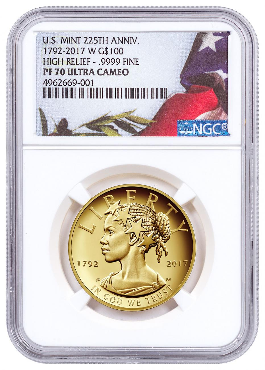 2017-W American Liberty High Relief Gold Proof $100 Coin NGC PF70 UC American Liberty Label