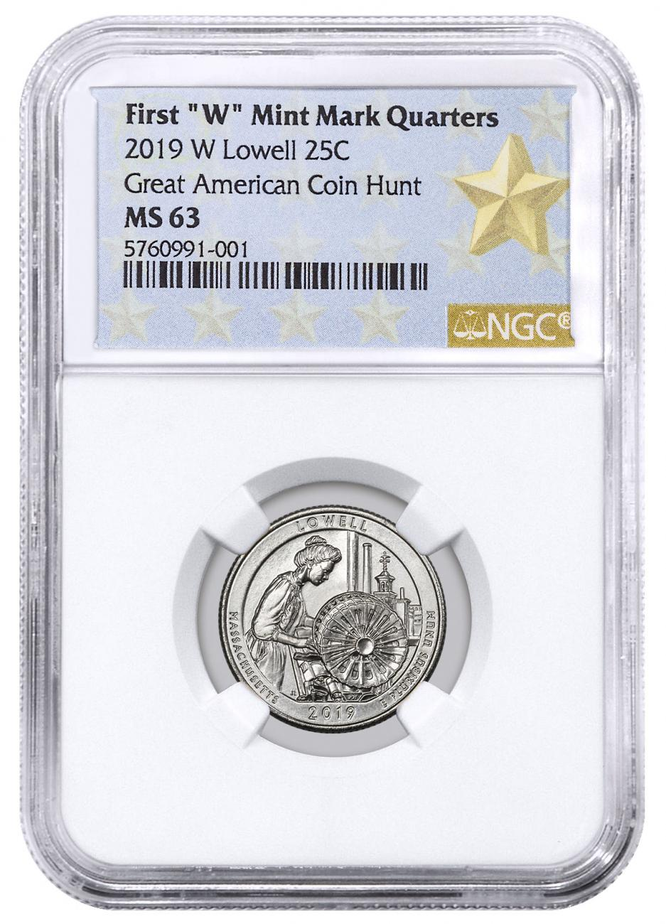 2019-W Lowell National Park America the Beautiful Quarter NGC MS63 West Point Star Label