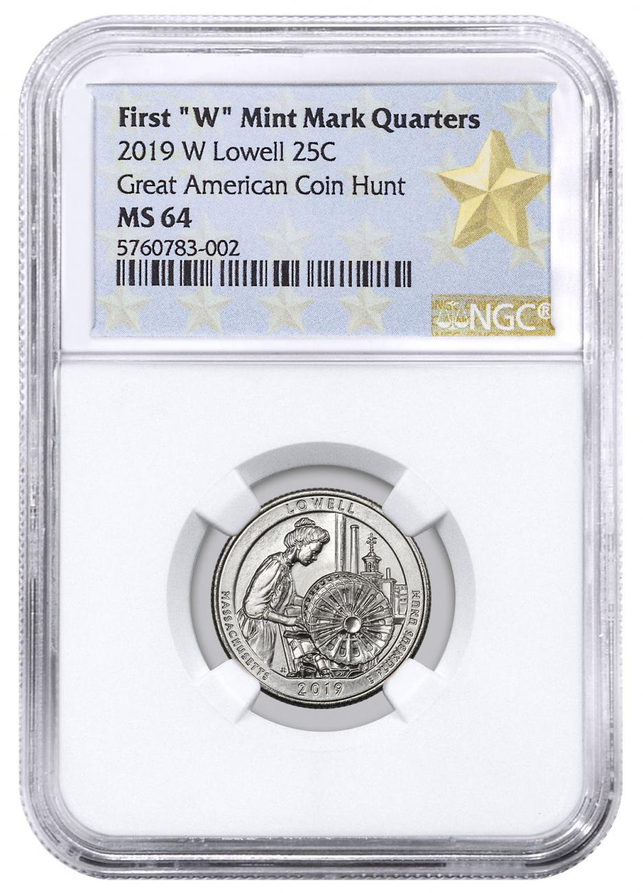 2019-W Lowell National Park America the Beautiful Quarter NGC MS64 West Point Star Label