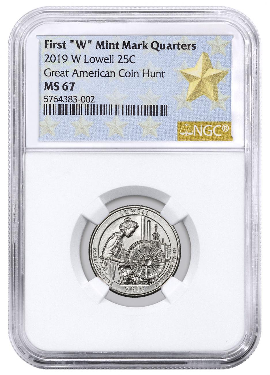 2019-W Lowell National Park America the Beautiful Quarter NGC MS67 West Point Star Label