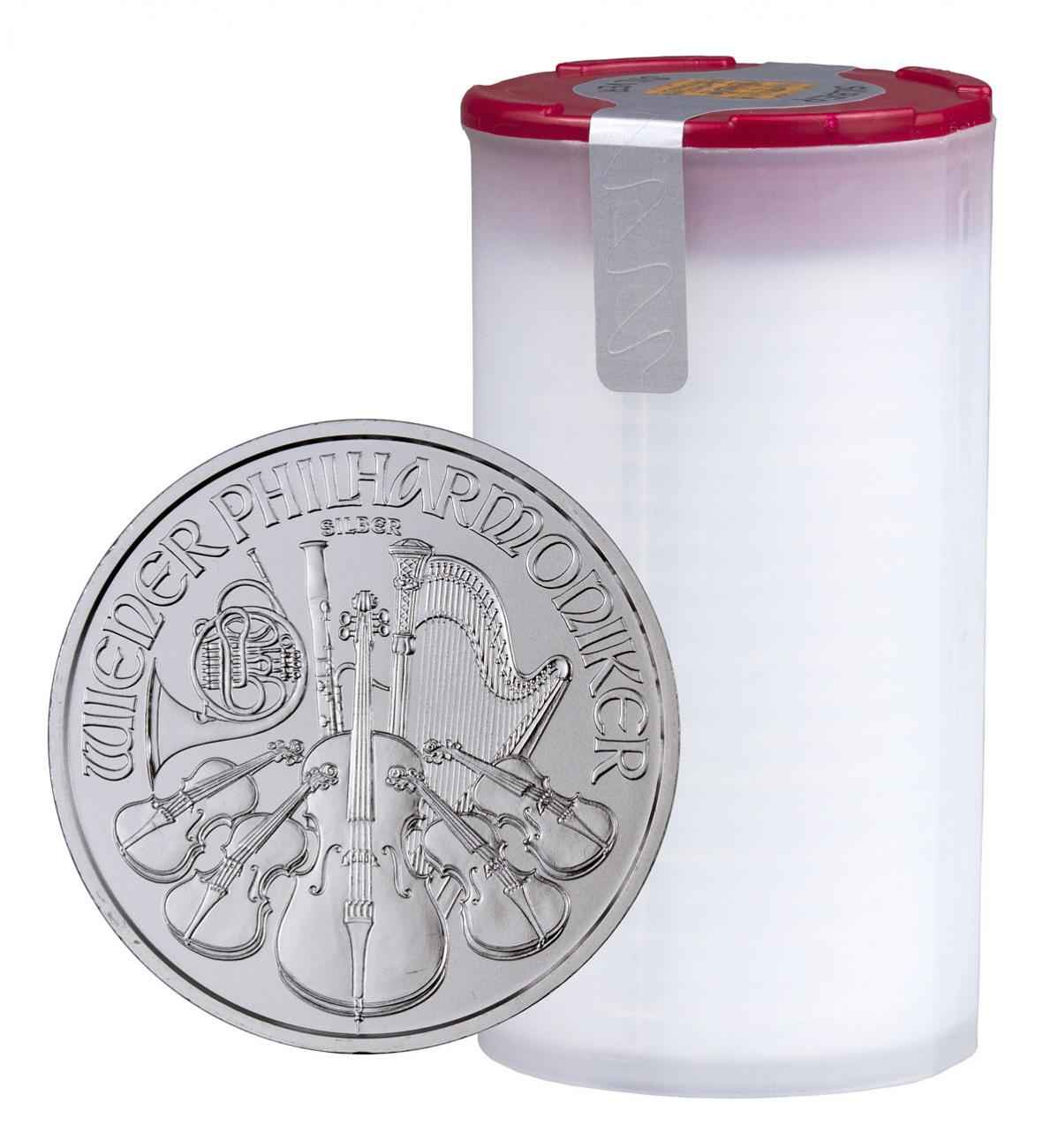 Roll of 20 - 2020 Austria 1 oz Silver Philharmonic €1.50 Coins GEM BU