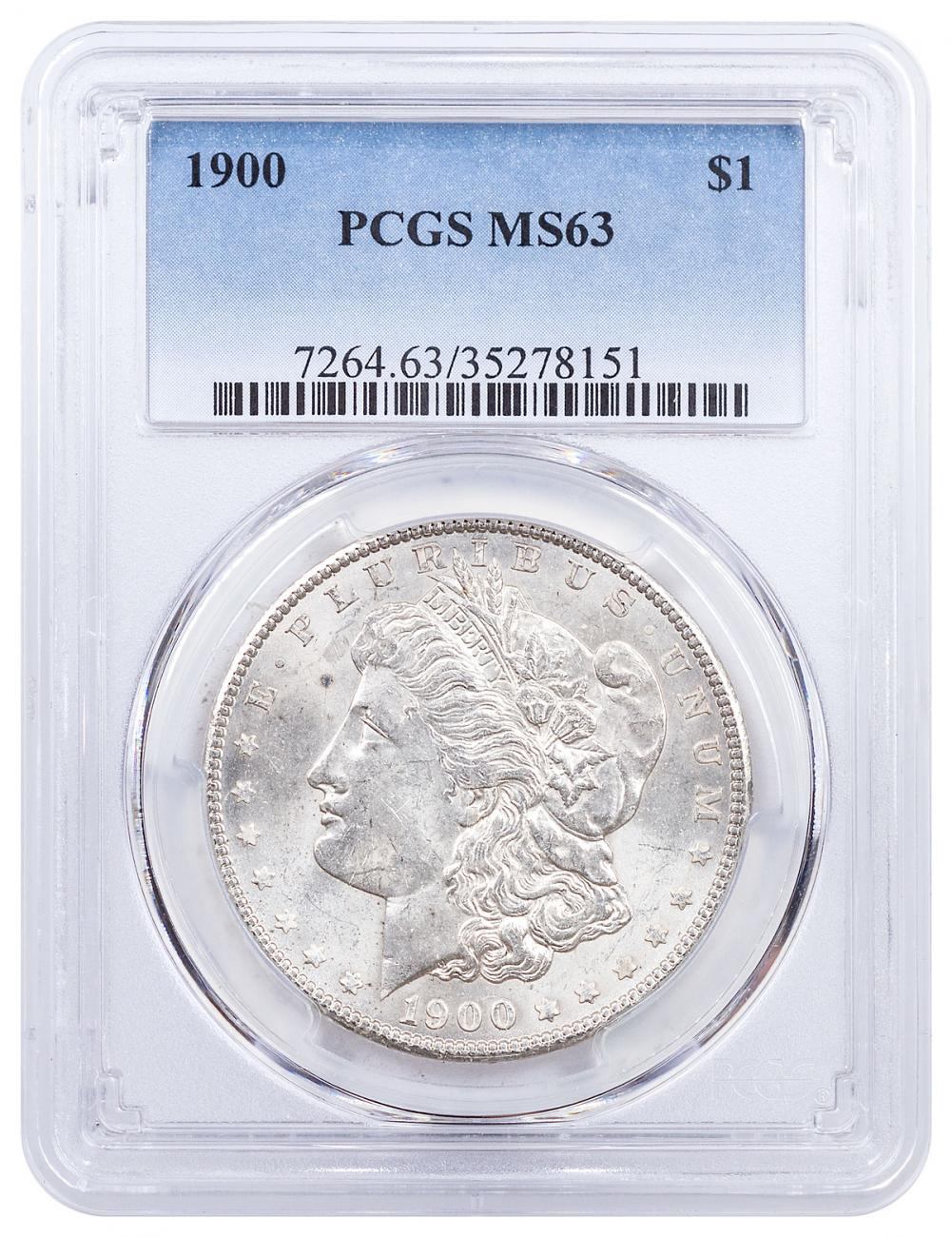 1900 Morgan Silver Dollar PCGS MS63