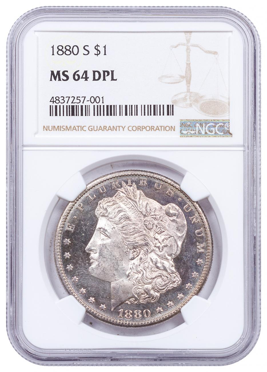 1880-S Morgan Silver Dollar NGC MS64 DPL