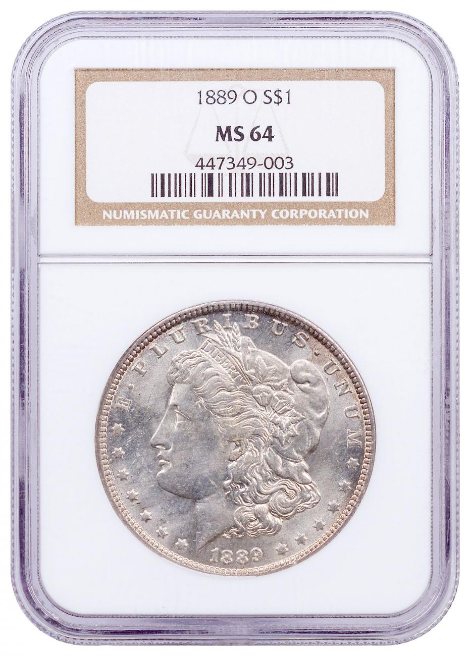 1889-O Morgan Silver Dollar NGC MS64