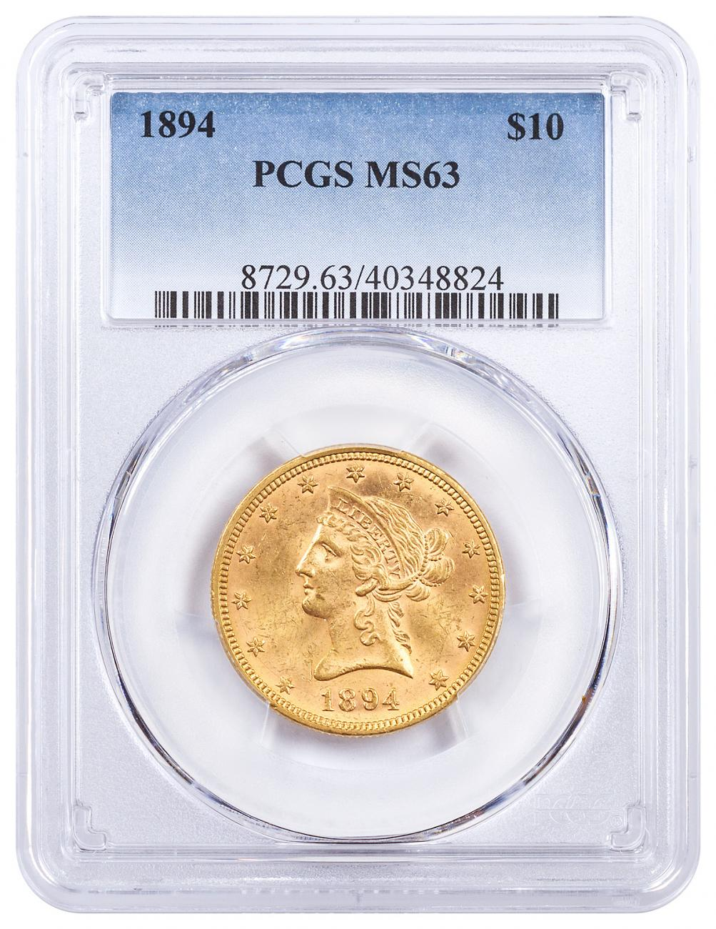 1894 Liberty Head $10 Gold Eagle PCGS MS63