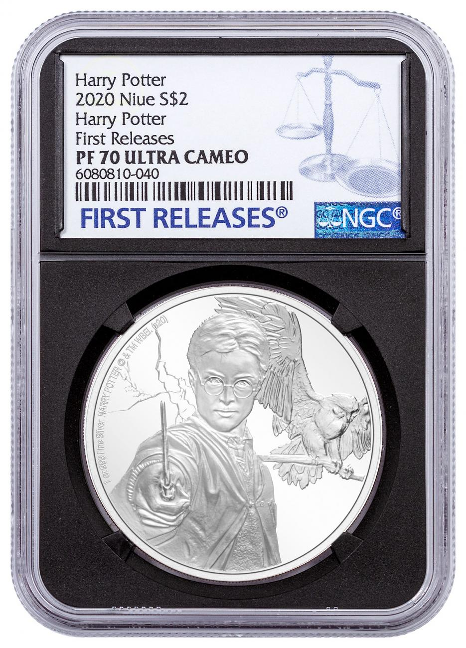 2020 Niue Harry Potter Classics - Harry Potter 1 oz Silver Proof $2 Coin NGC PF70 UC FR Black Core Holder
