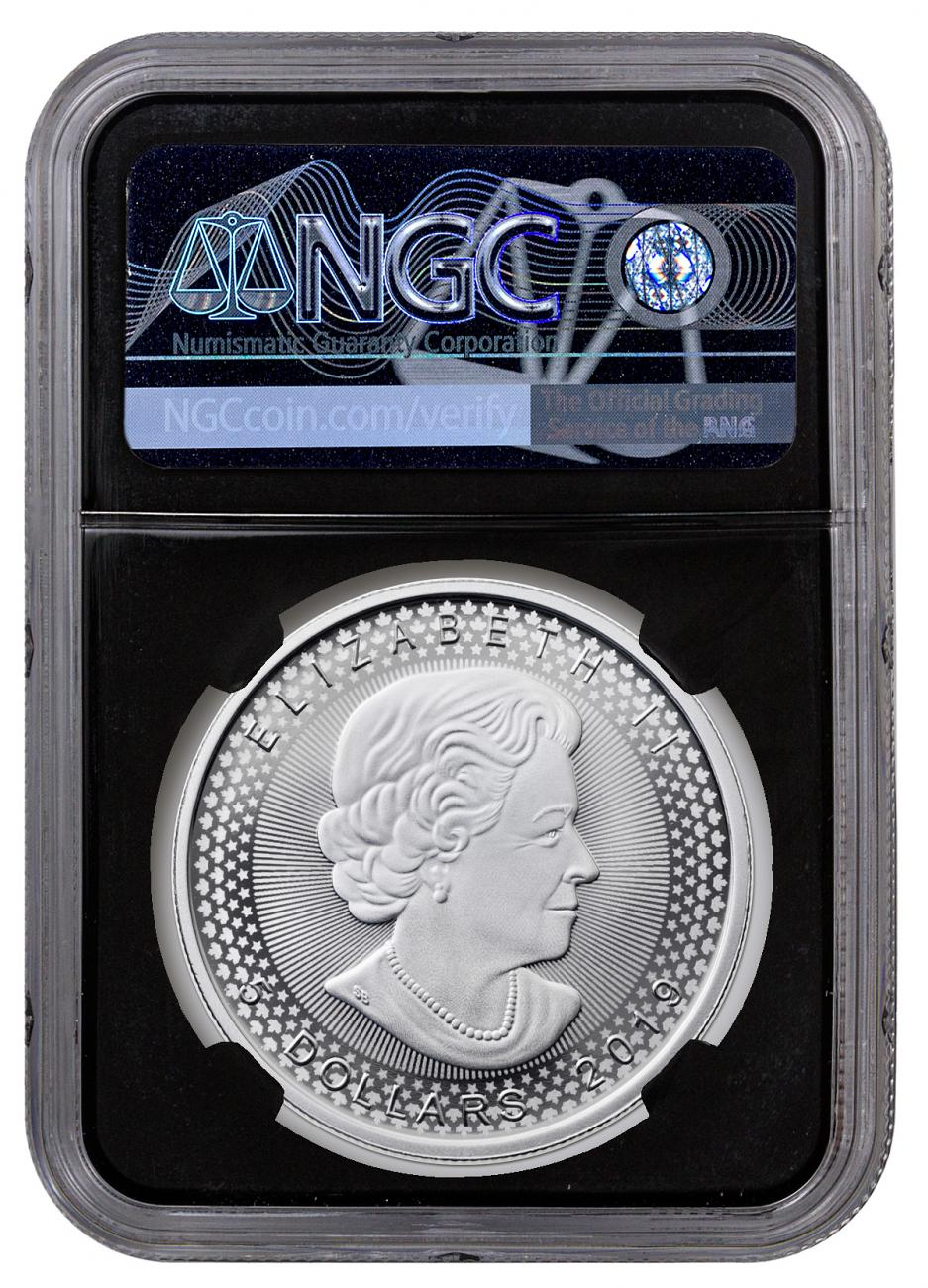 2019 $5 SILVER CANADIAN MODIFIED MAPLE LEAF NGC PF70 PRIDE OF TWO NATIONS