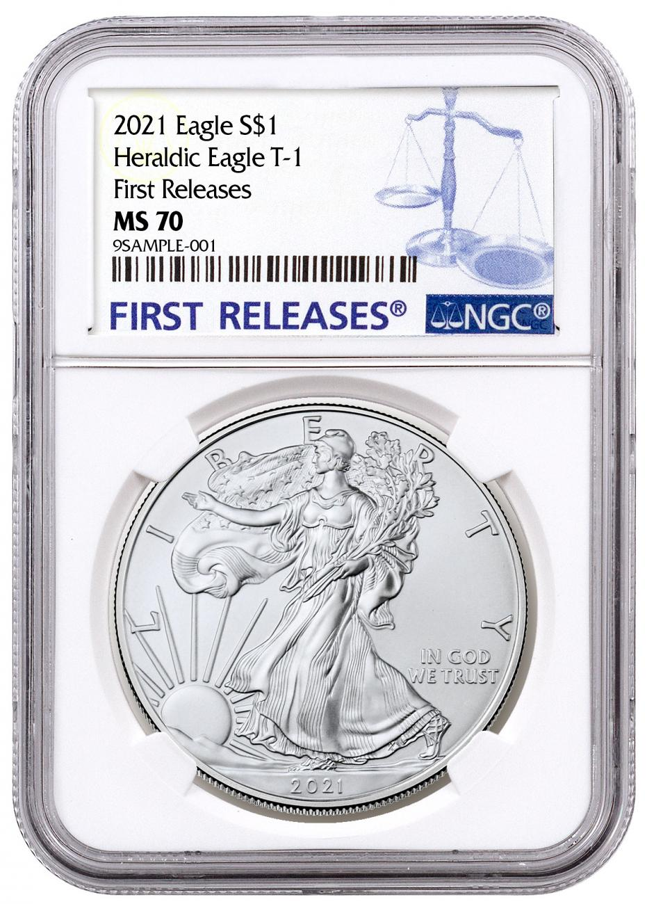 2021 American Silver Eagle T-1 NGC MS70 FR