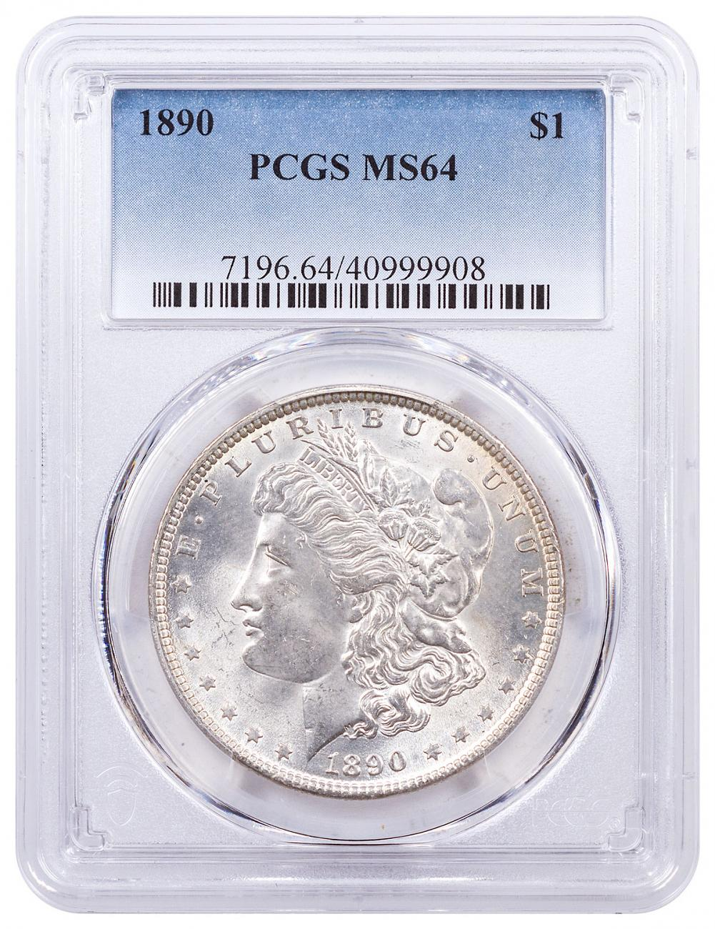 1890 Morgan Silver Dollar PCGS MS64