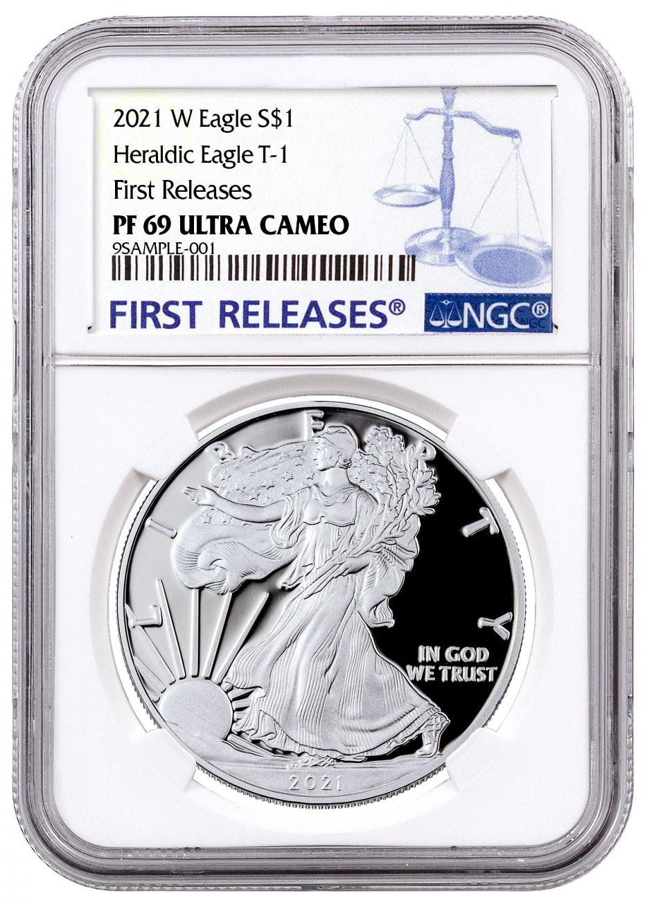 2021-W Silver Proof American Eagle NGC PF69 UC FR Blue Label