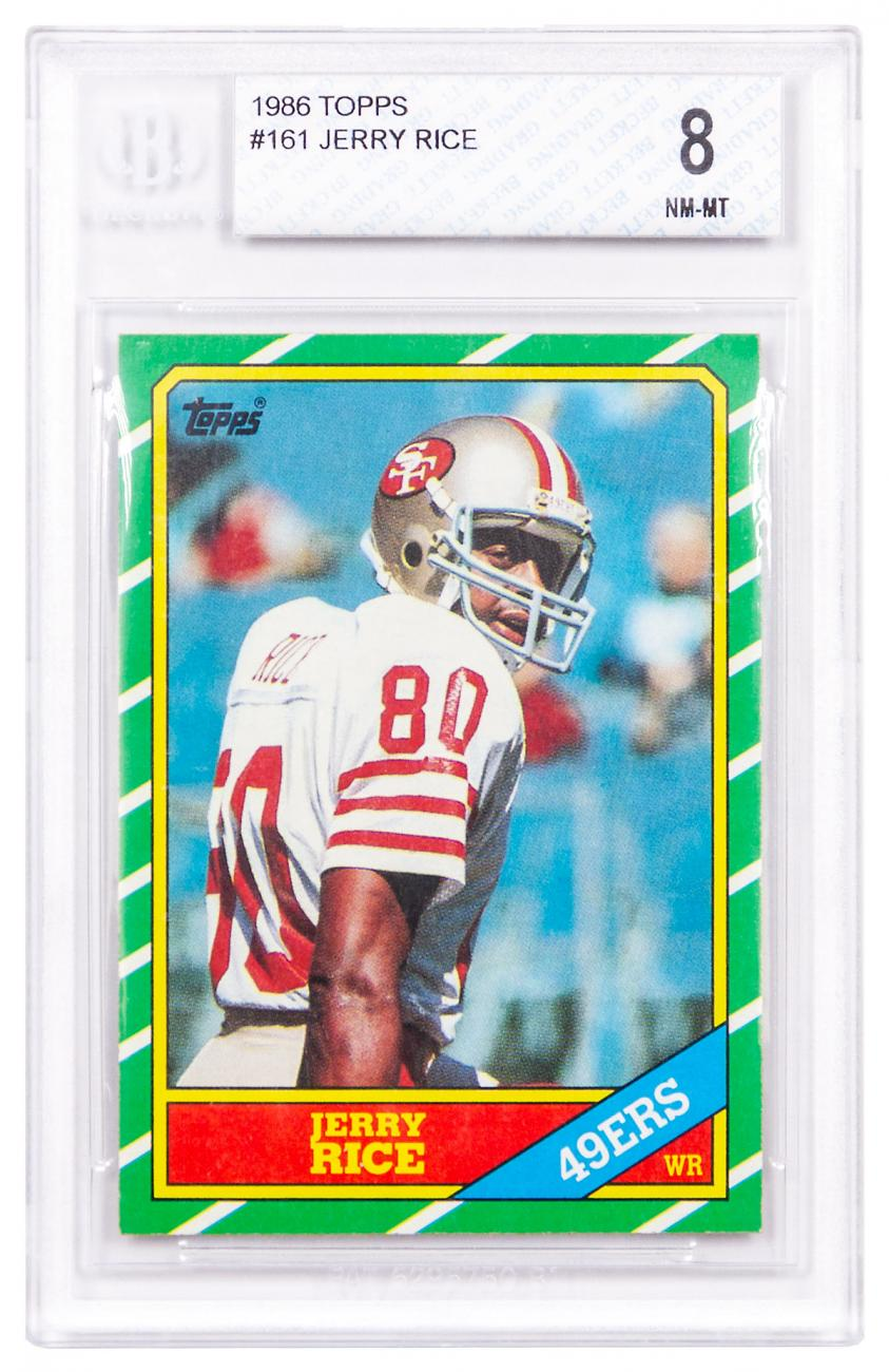 1986 Topps Jerry Rice BGS 8 (Rookie Card)