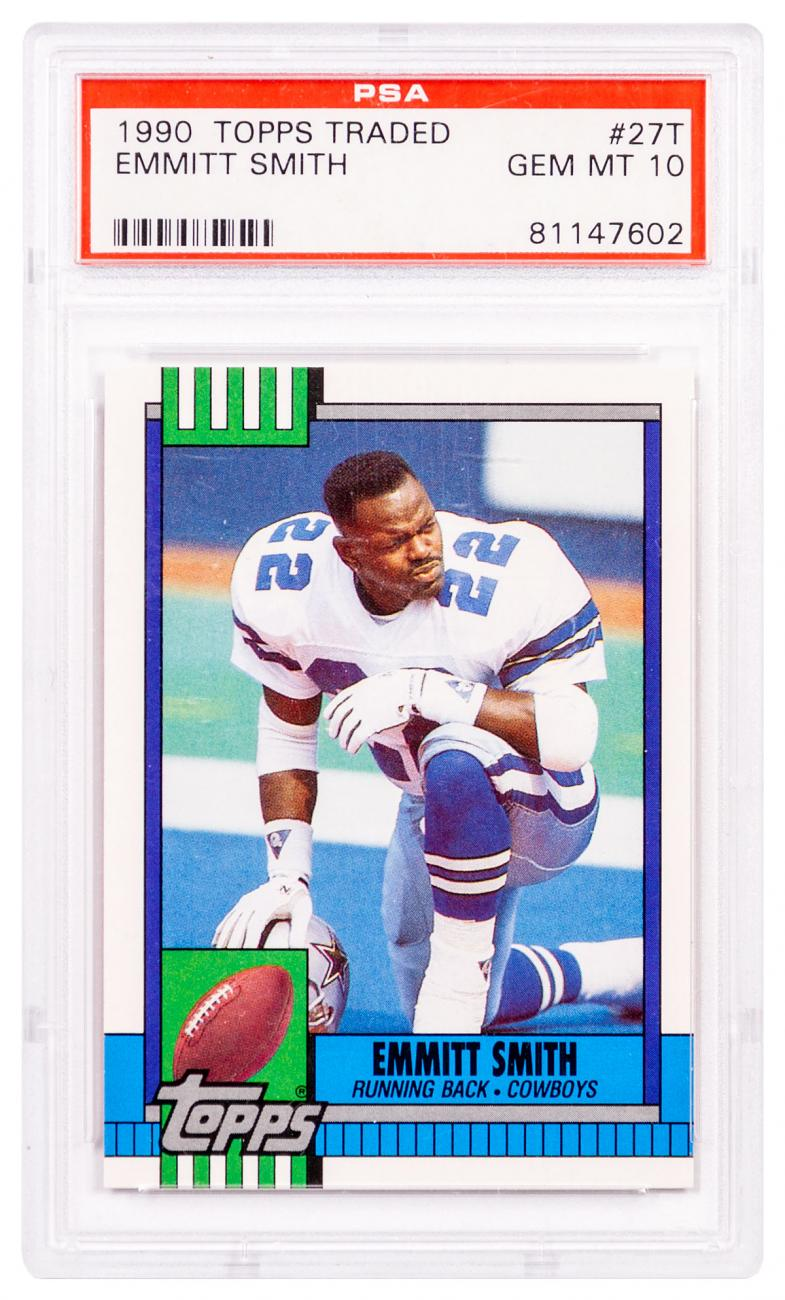 1990 Topps Traded Emmitt Smith PSA 10 (Rookie Card)