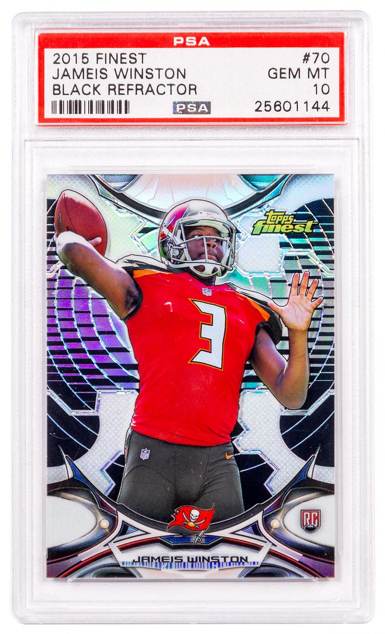 2015 Topps Finest Jameis Winston PSA 10 Black Refractor (Rookie Card)