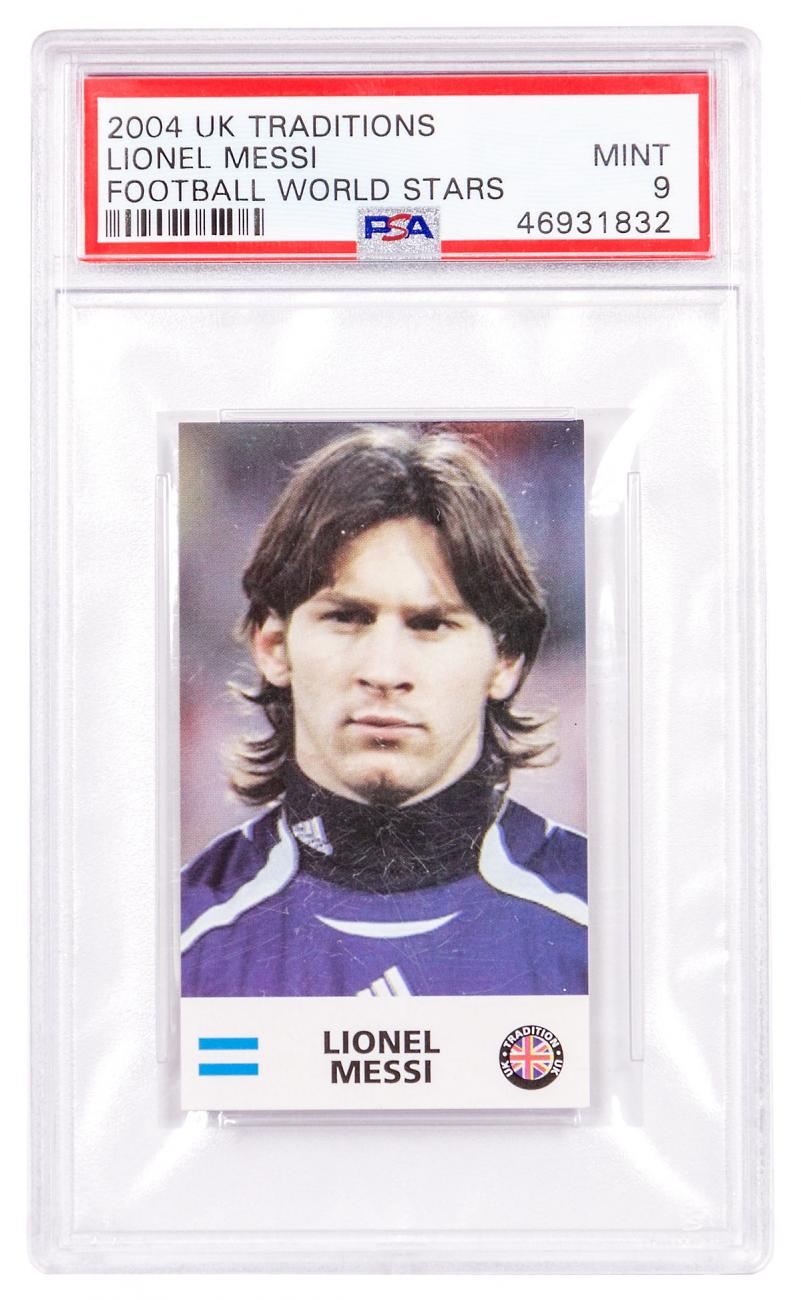 2004 UK Traditions Lionel Messi PSA 9 (Sophomore Year)
