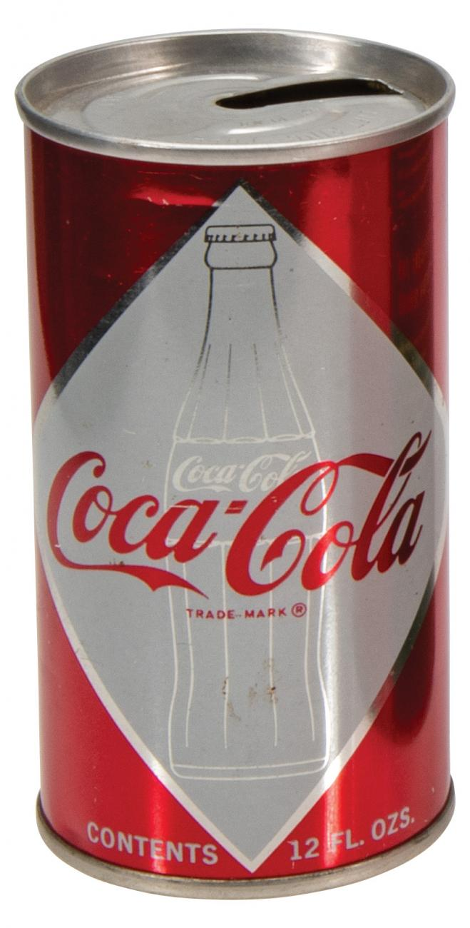 1960's Coca-Cola Early Pull Tab-Type Steel Soda Can Excellent