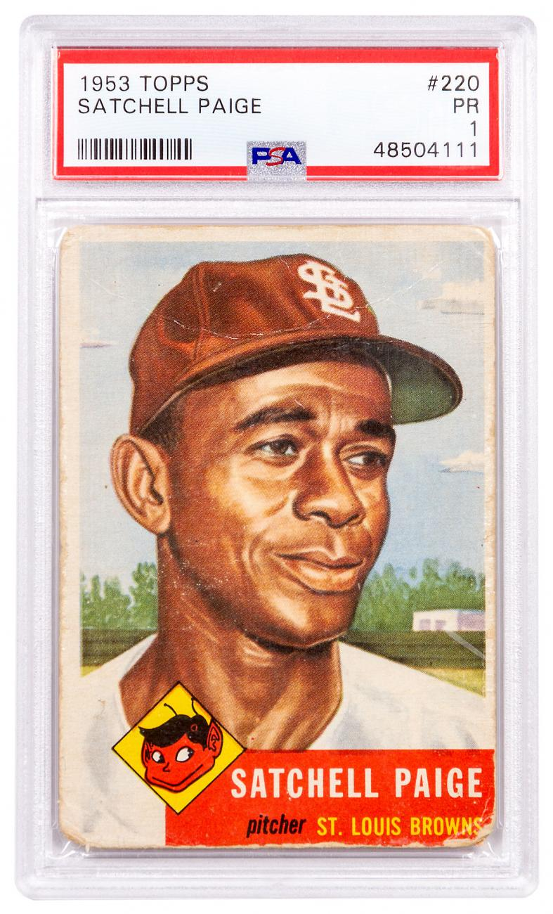 1953 Topps Satchell Paige PSA 1