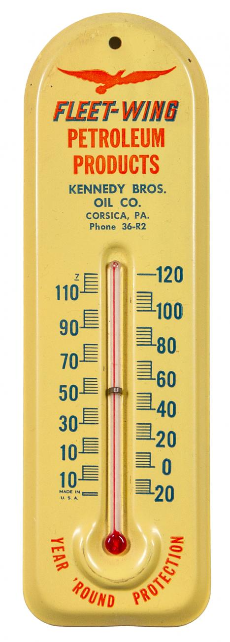 Fleet Wing Petroleum Products Thermometer New Old Stock in Original Box