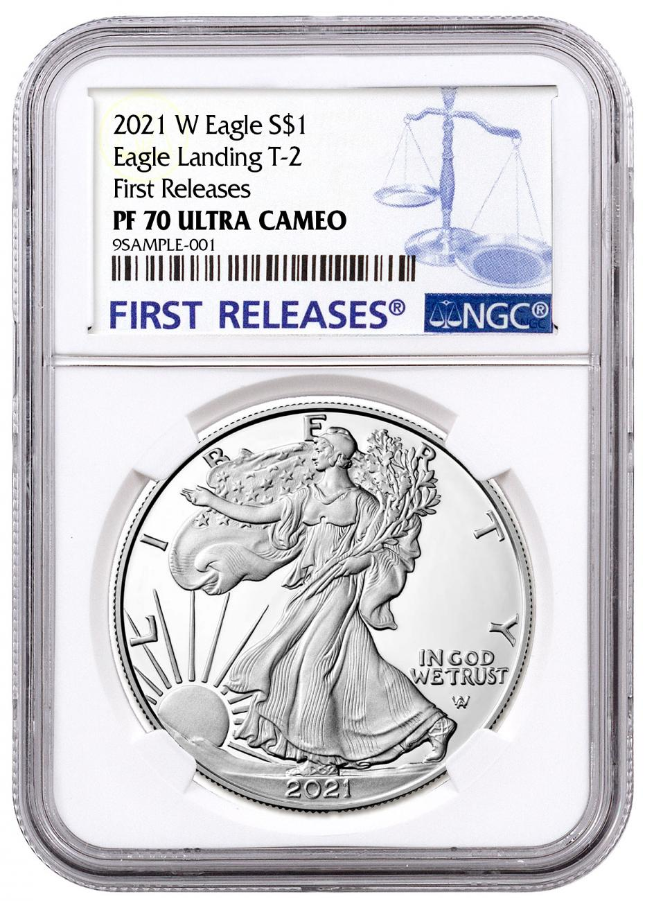 2021-W Proof American Silver Eagle Type 2 NGC PF70 UC FR