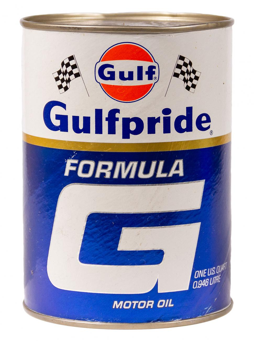 Gulfpride Racing Formula G Composite Oil Cans
