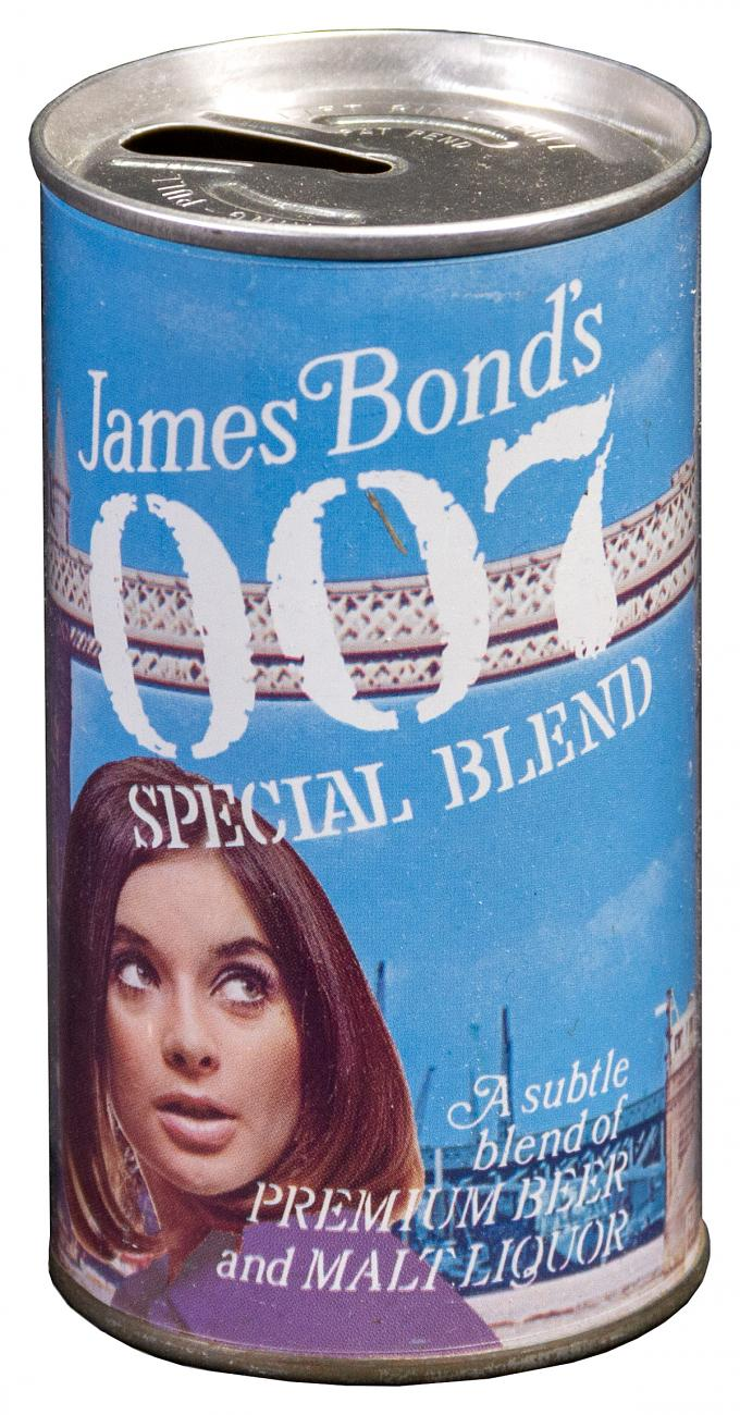 1960's James Bond 007 Malt Liquor 12 Ounce Early Ring Pull Tab Beer Can Excellent