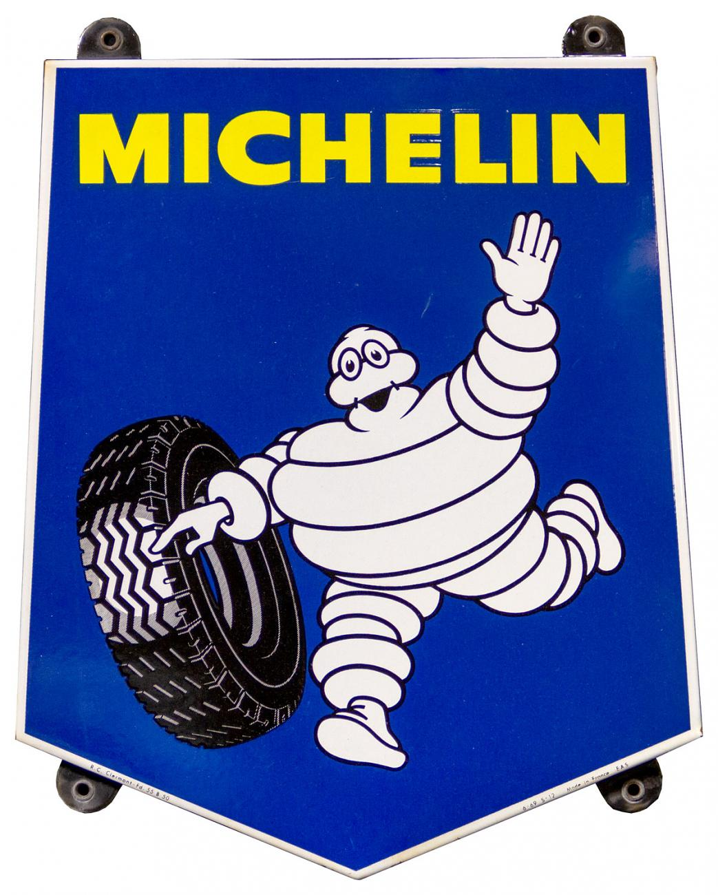 Michelin Tires French Porcelain Sign