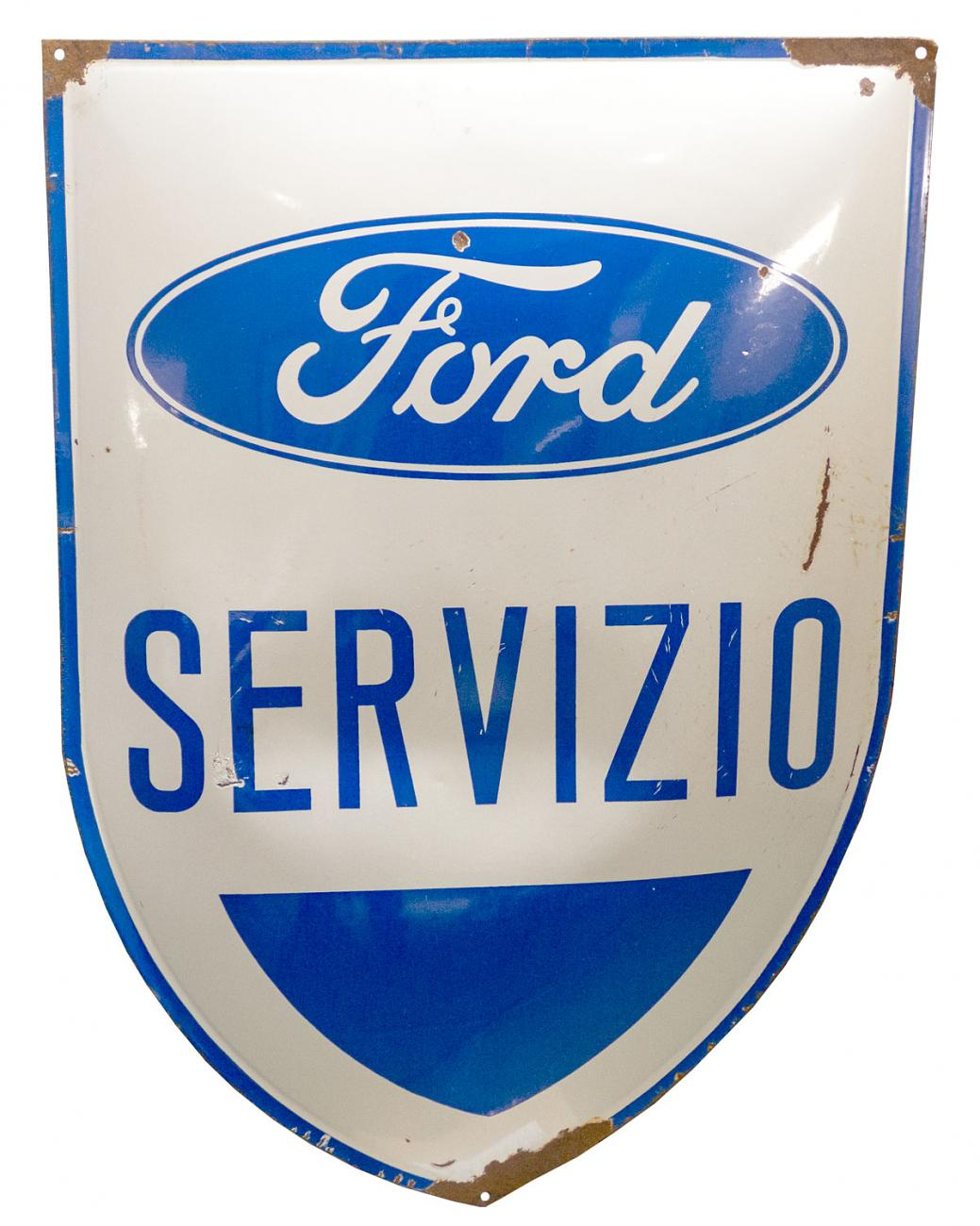 Ford Service Italian Convex Porcelain Sign