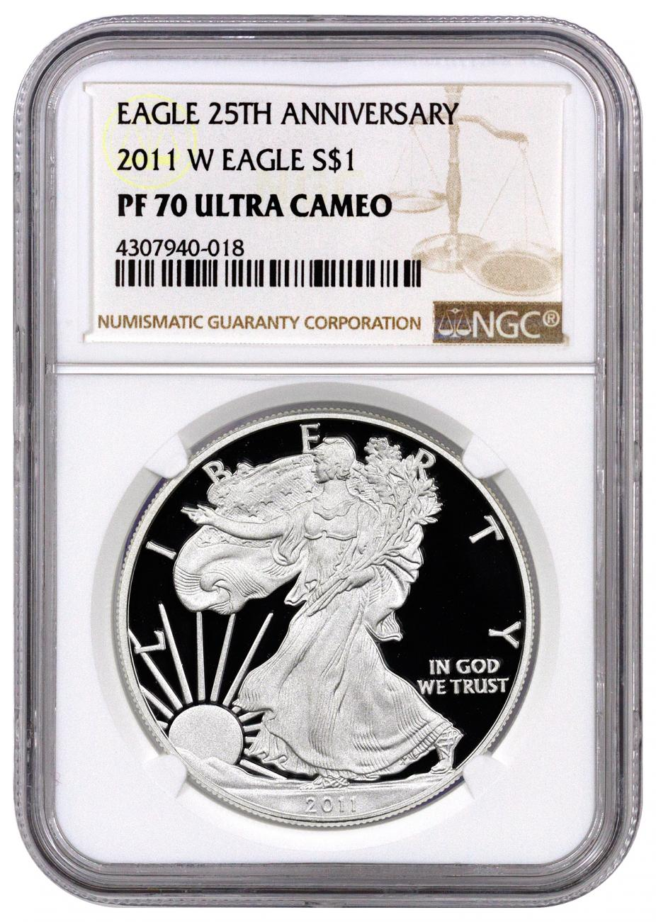 2011-W Proof American Silver Eagle NGC PF70 UC