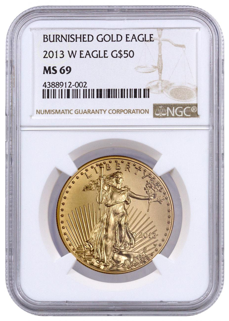 2013-W $50 1 oz. Burnished American Gold Eagle - NGC MS69