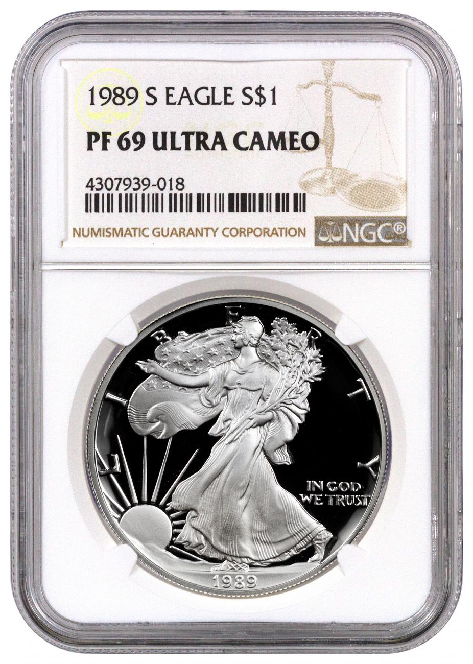 1989 S American Silver Eagle Proof Ngc Pf69 Uc