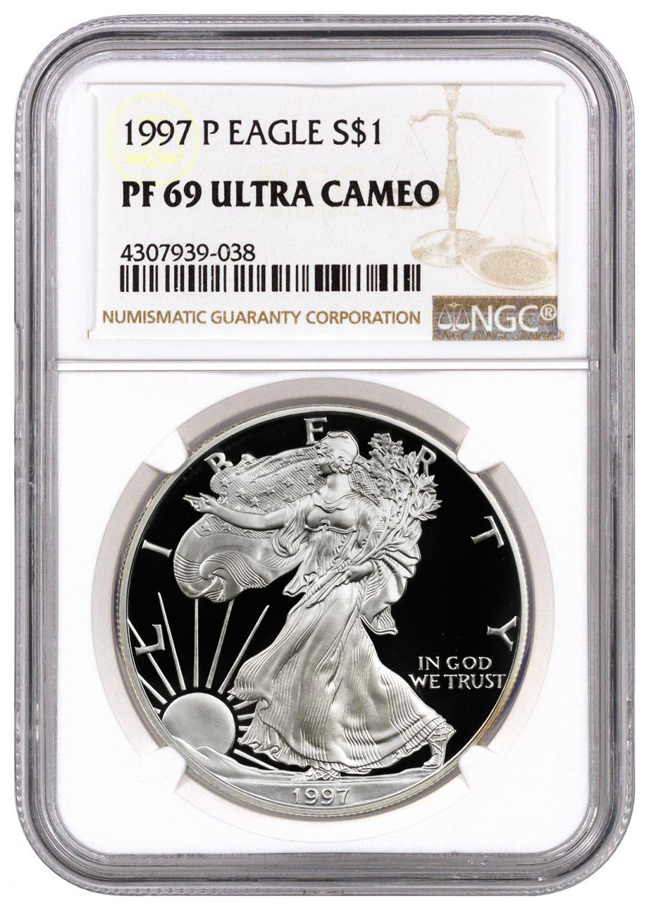1997-P Proof American Silver Eagle - NGC PF69 UC