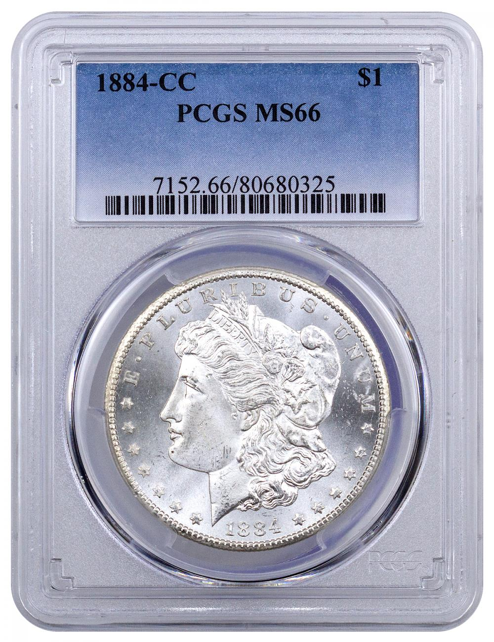 1884-CC Morgan Silver Dollar PCGS MS66