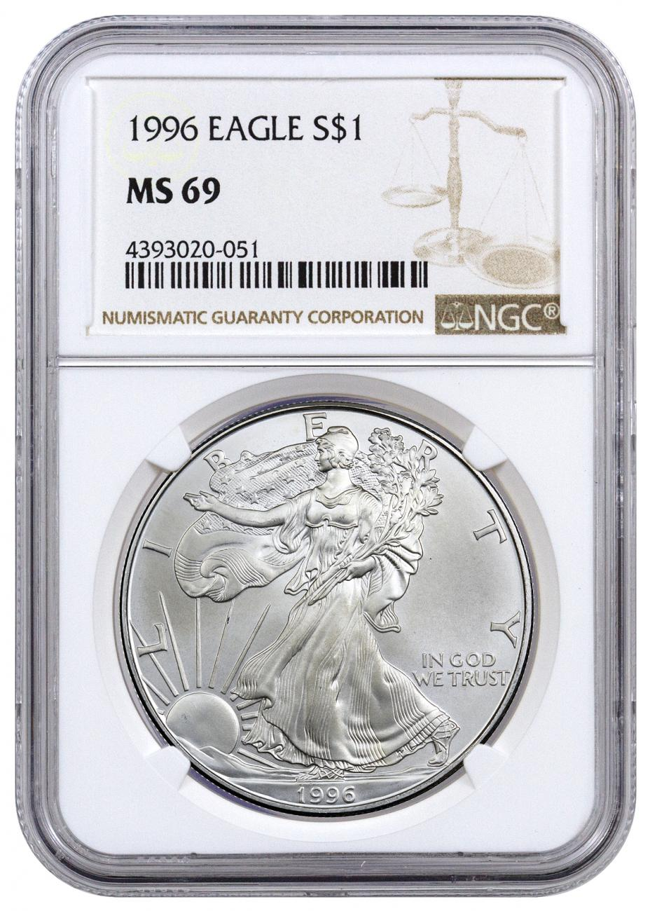 1996 American Silver Eagle | NGC MS69
