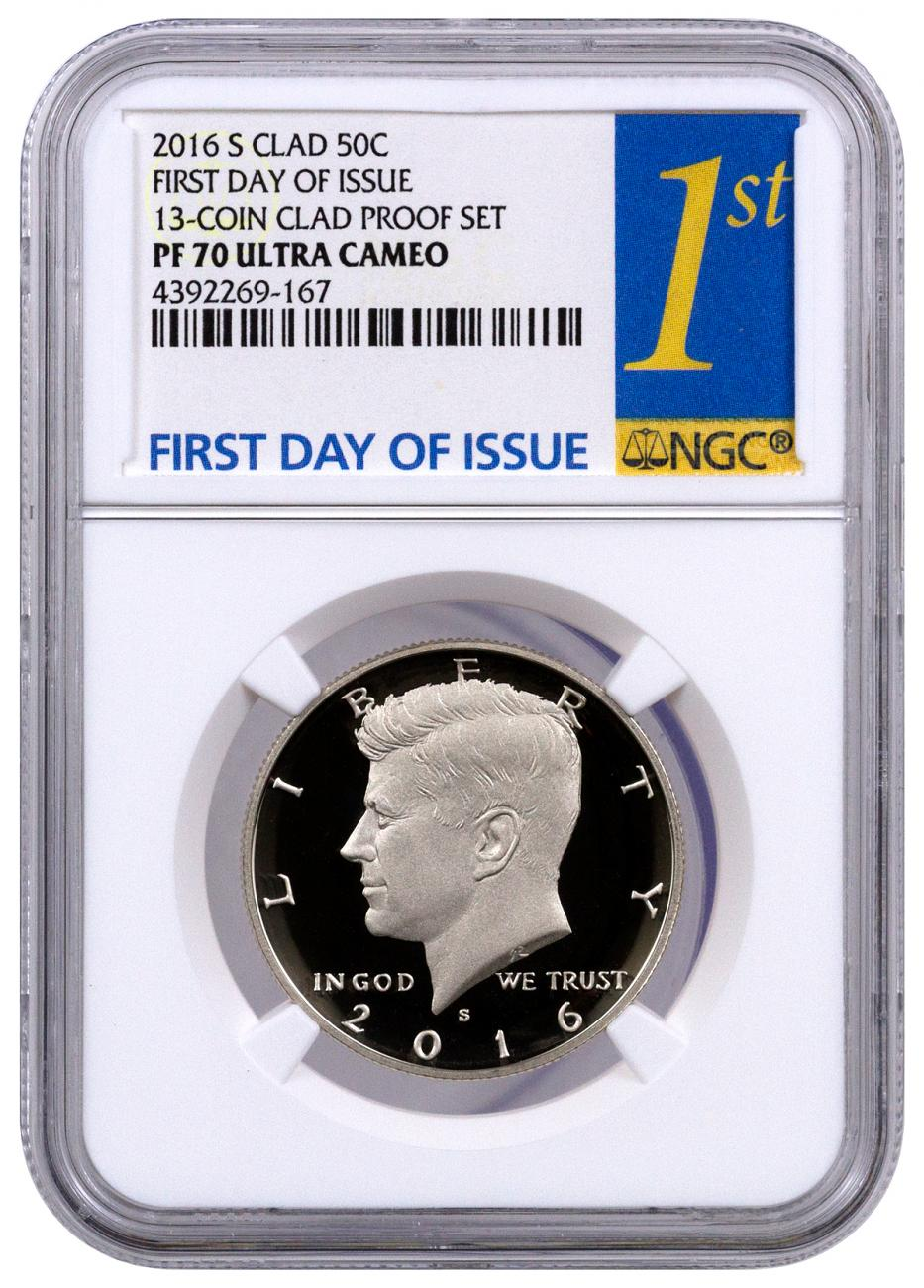 2016-S Proof Clad Kennedy Half Dollar - NGC PF70 UC (First Day of Issue Label)