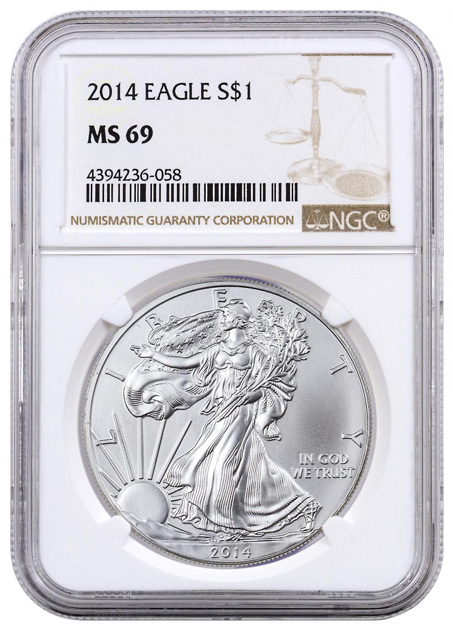 2014 American Silver Eagle | NGC MS69