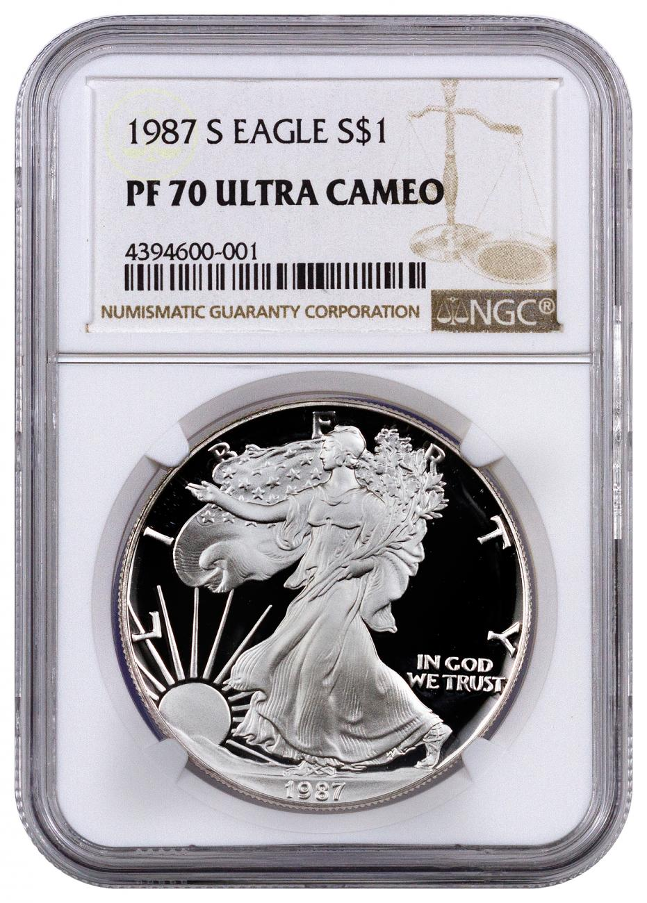 1987-S Proof American Silver Eagle NGC PF70 UC