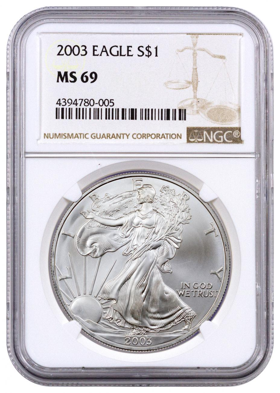 2003 American Silver Eagle NGC MS69