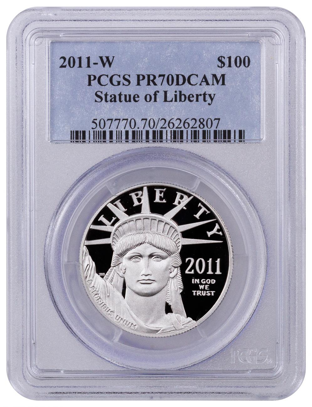 2011-W 1 oz Platinum American Eagle Proof $100 PCGS PR70 DCAM