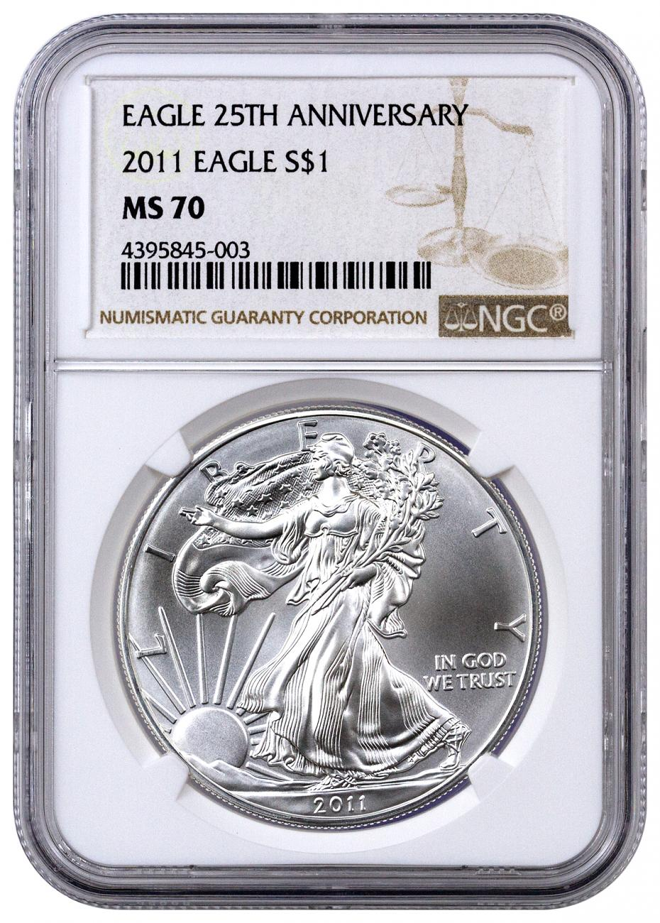 2011 American Silver Eagle NGC MS70