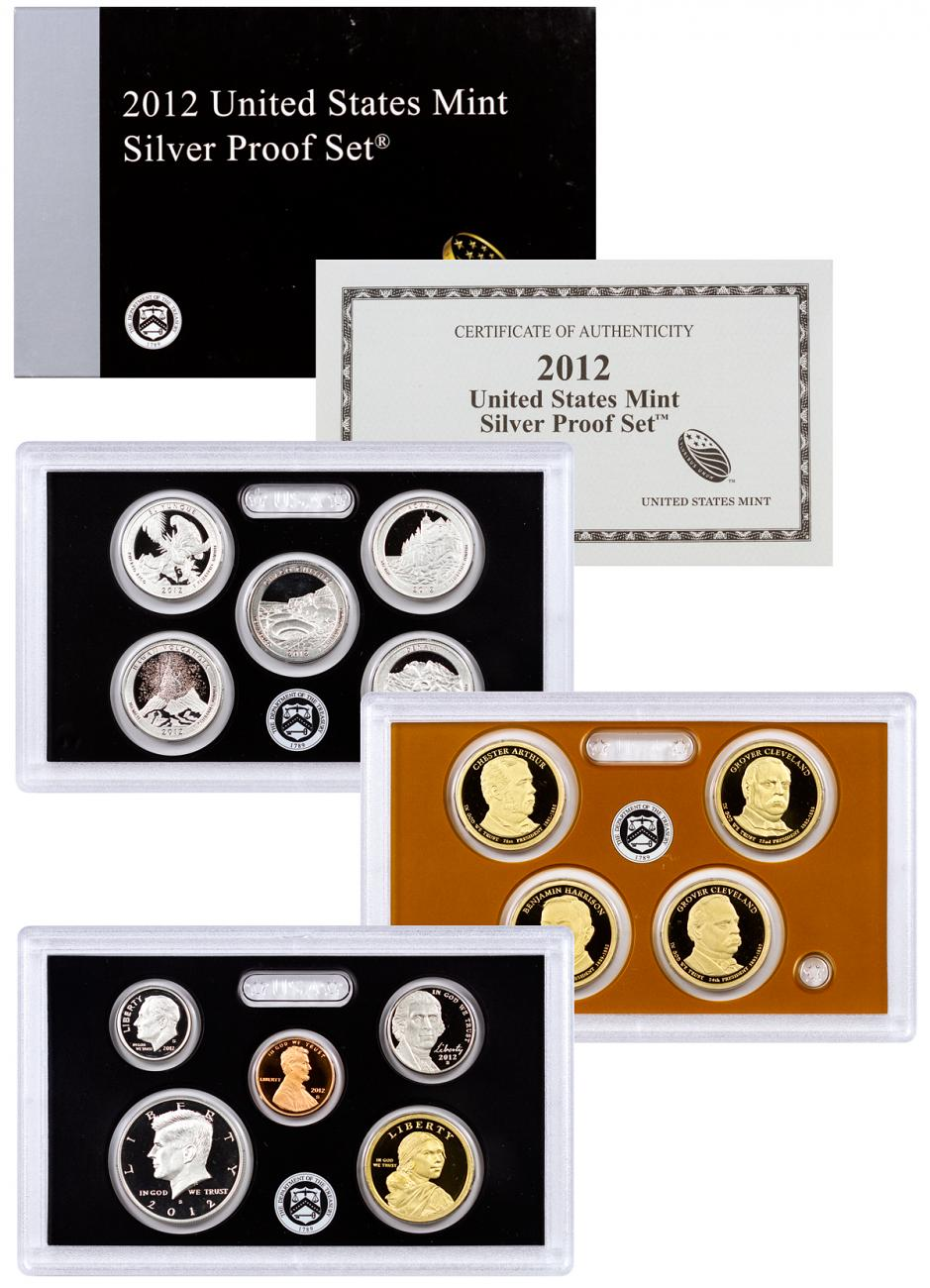 2012-S United States Silver Proof Coin Set - GEM Proof (Original Government Packaging)